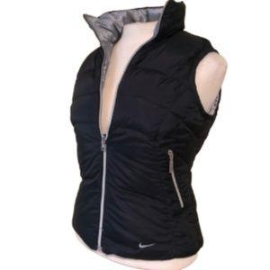NIKE Reversible Puffer Vest Silver Inside